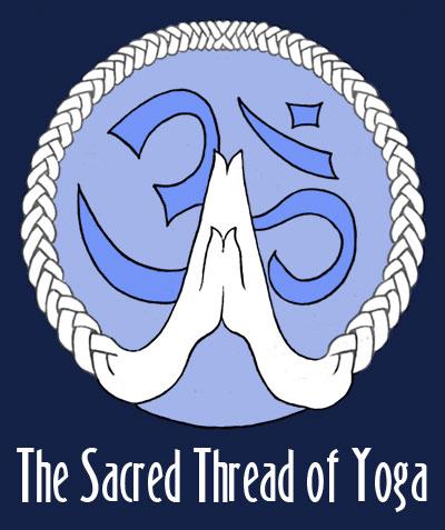 sacred thread 'namaste' logo